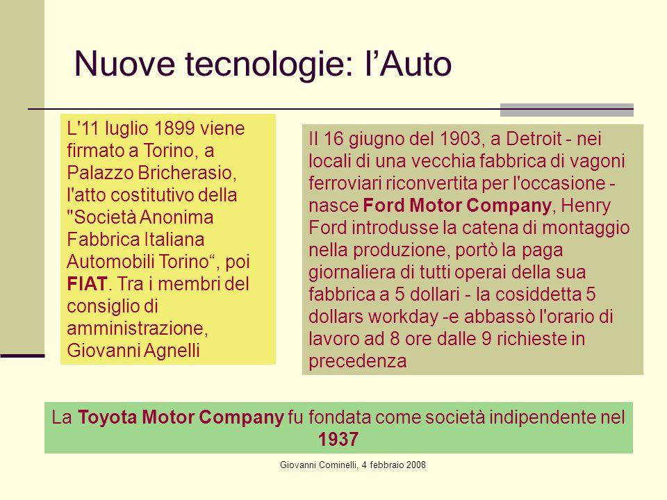 Nuove tecnologie: l'Auto