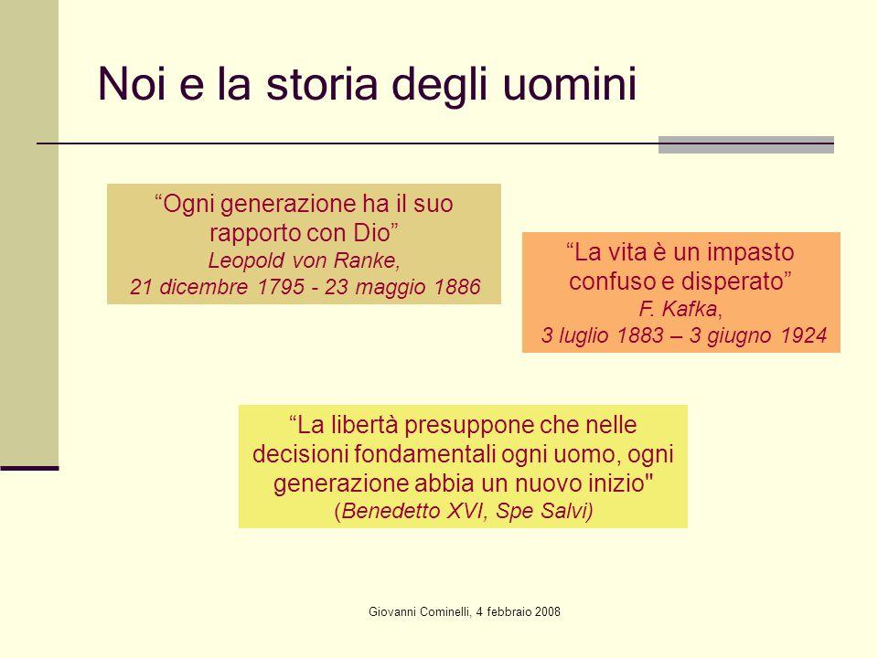 Noi e la storia degli uomini