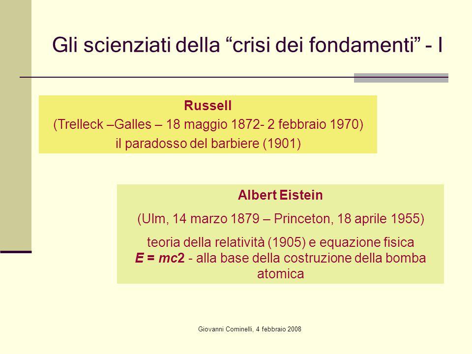 Gli scienziati della crisi dei fondamenti - I