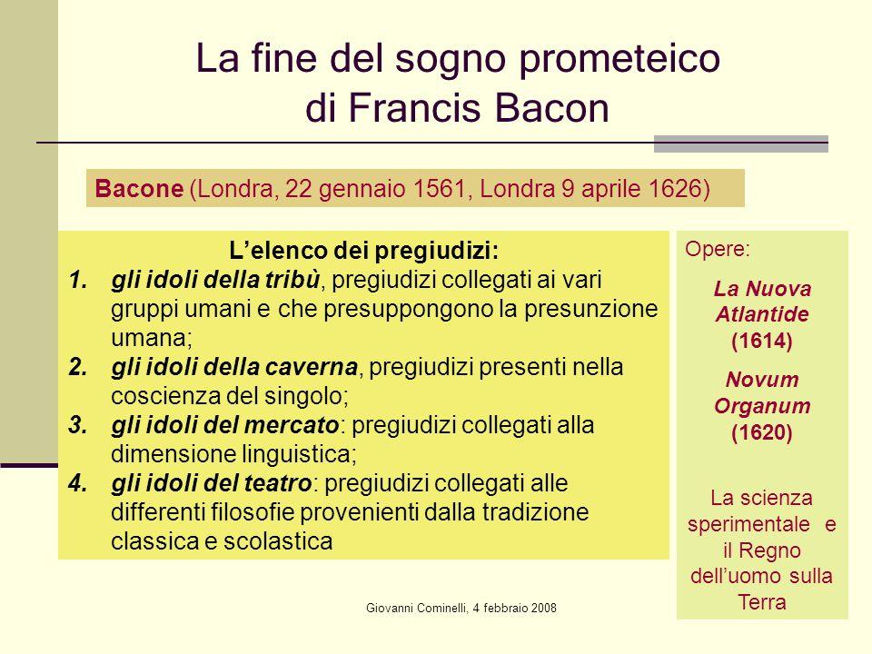 La fine del sogno prometeico di Francis Bacon