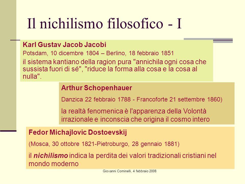 Il nichilismo filosofico - I