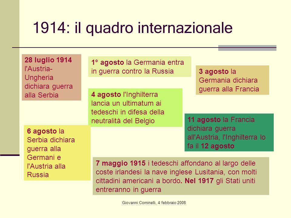 1914: il quadro internazionale