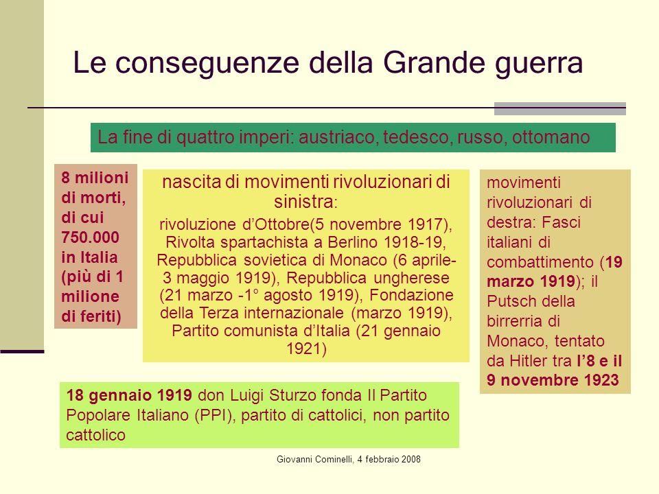 Le conseguenze della Grande guerra