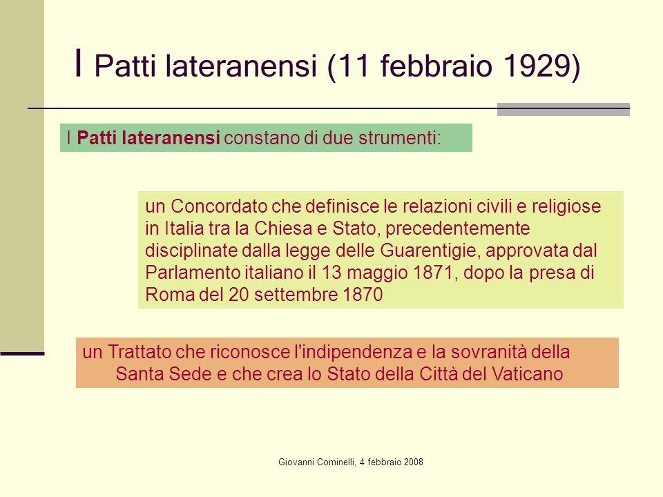 I Patti lateranensi (11 febbraio 1929)