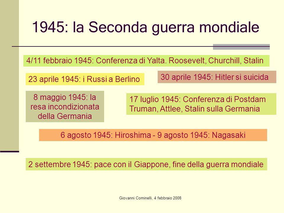 1945: la Seconda guerra mondiale