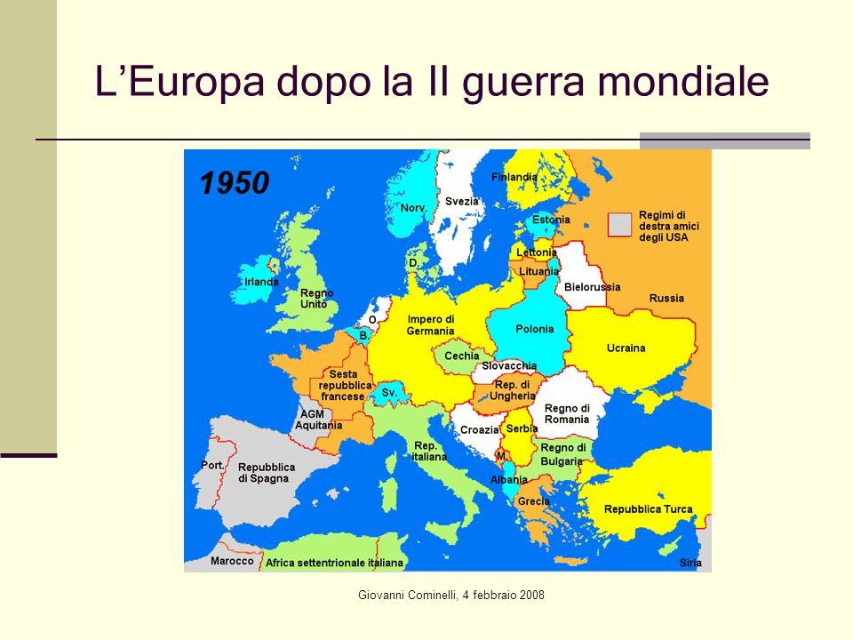 L'Europa dopo la II guerra mondiale