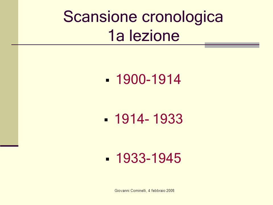 Scansione cronologica 1a lezione