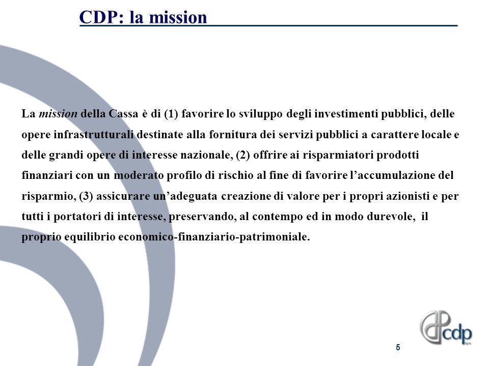 CDP: la mission