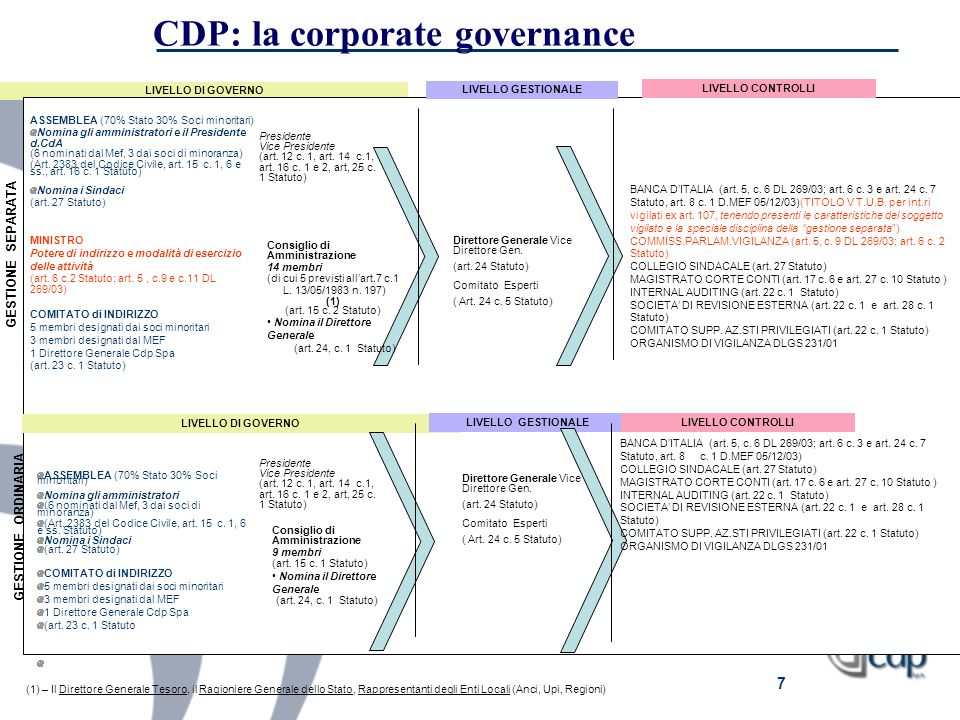 CDP: la corporate governance