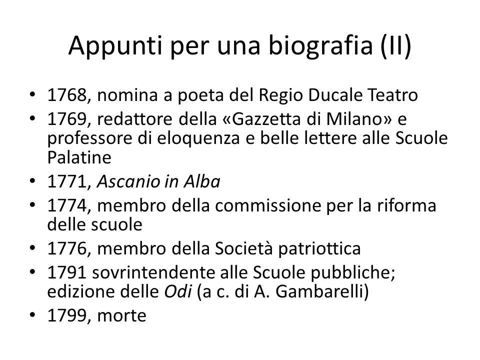 Appunti per una biografia (II)