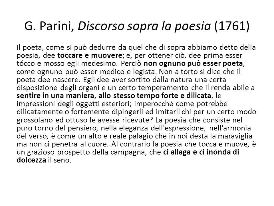 G. Parini, Discorso sopra la poesia (1761)