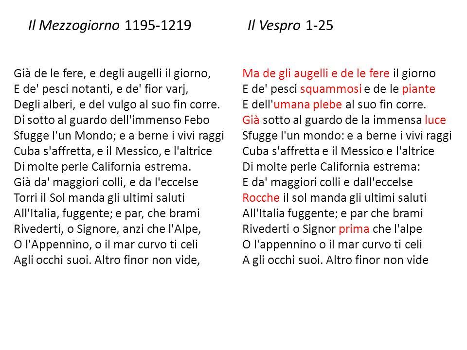 Il Mezzogiorno 1195-1219 Il Vespro 1-25