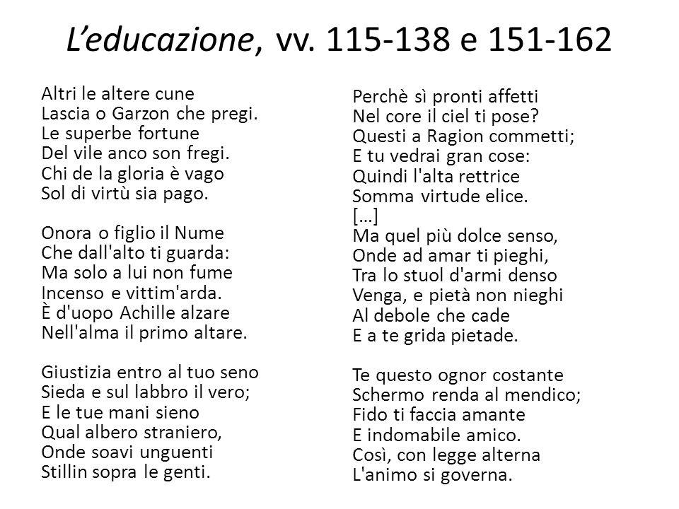 L'educazione, vv. 115-138 e 151-162