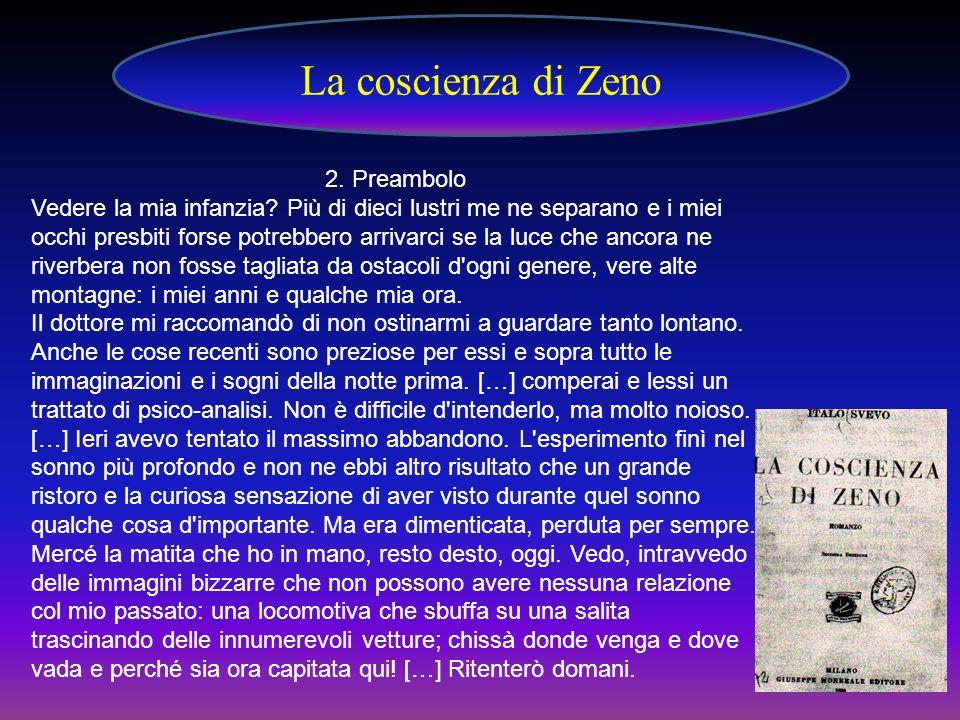 La coscienza di Zeno 2. Preambolo