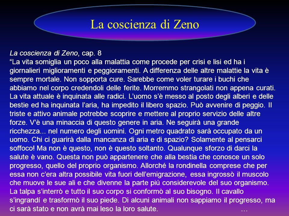 La coscienza di Zeno La coscienza di Zeno, cap. 8