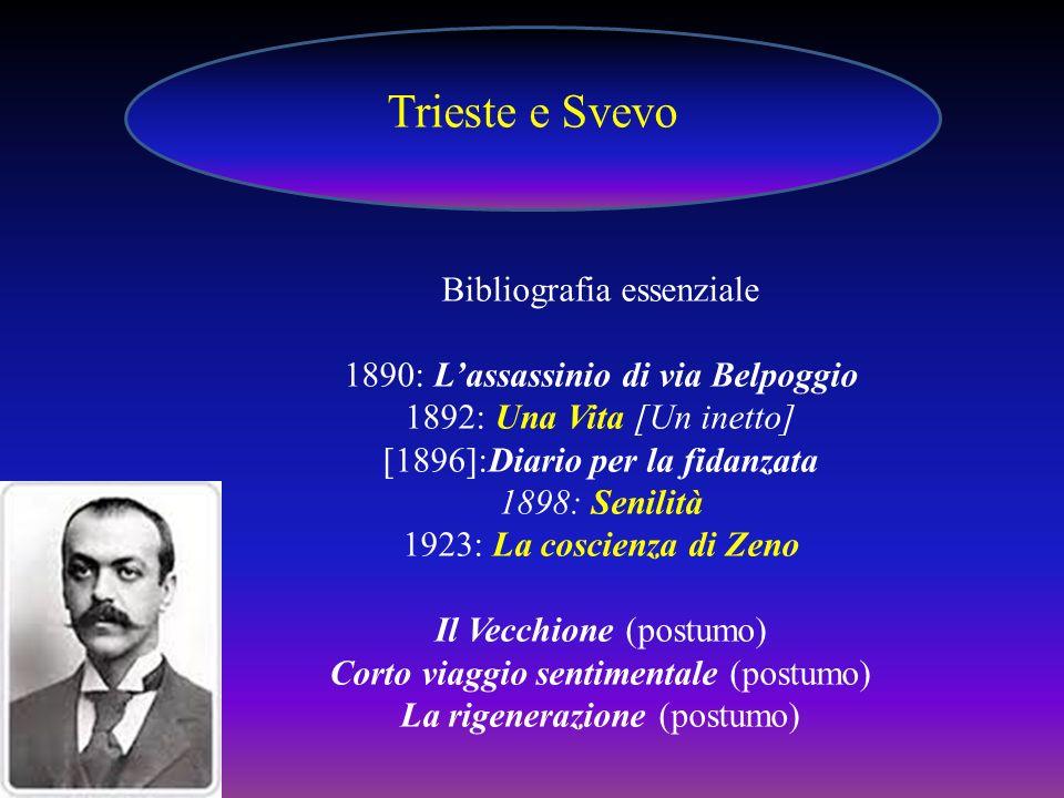 Trieste e Svevo Bibliografia essenziale