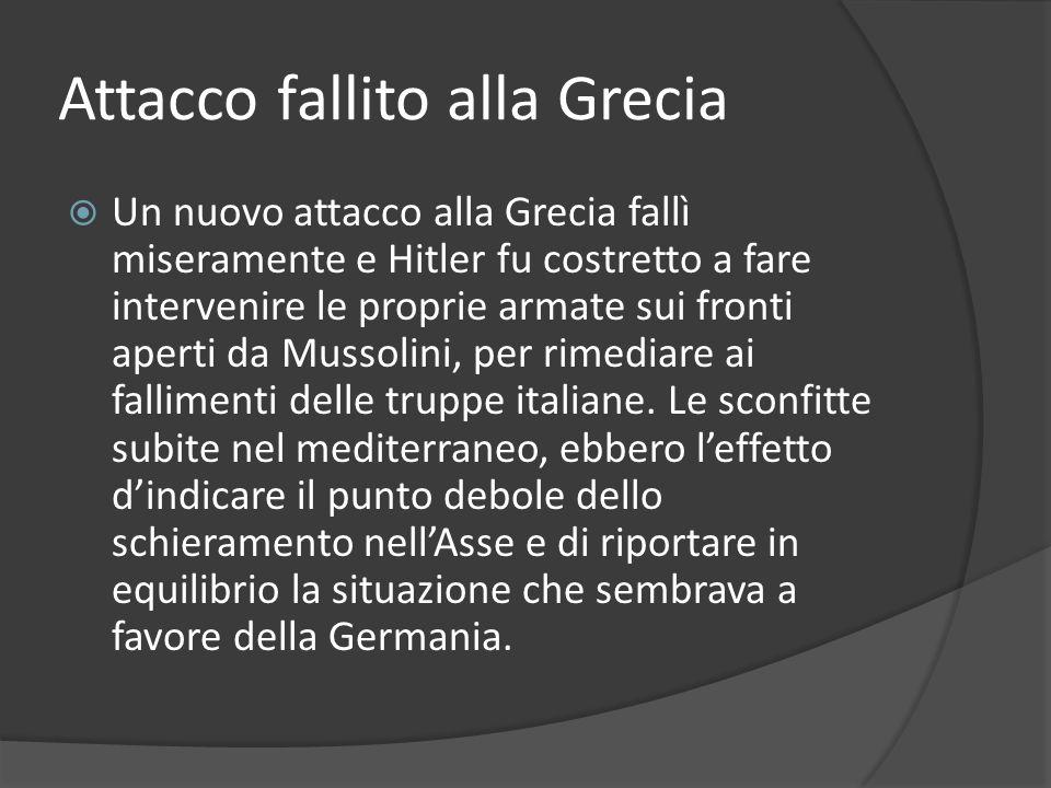 Attacco fallito alla Grecia