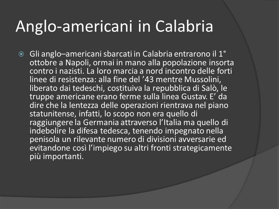 Anglo-americani in Calabria