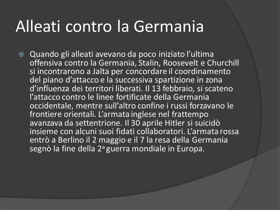 Alleati contro la Germania
