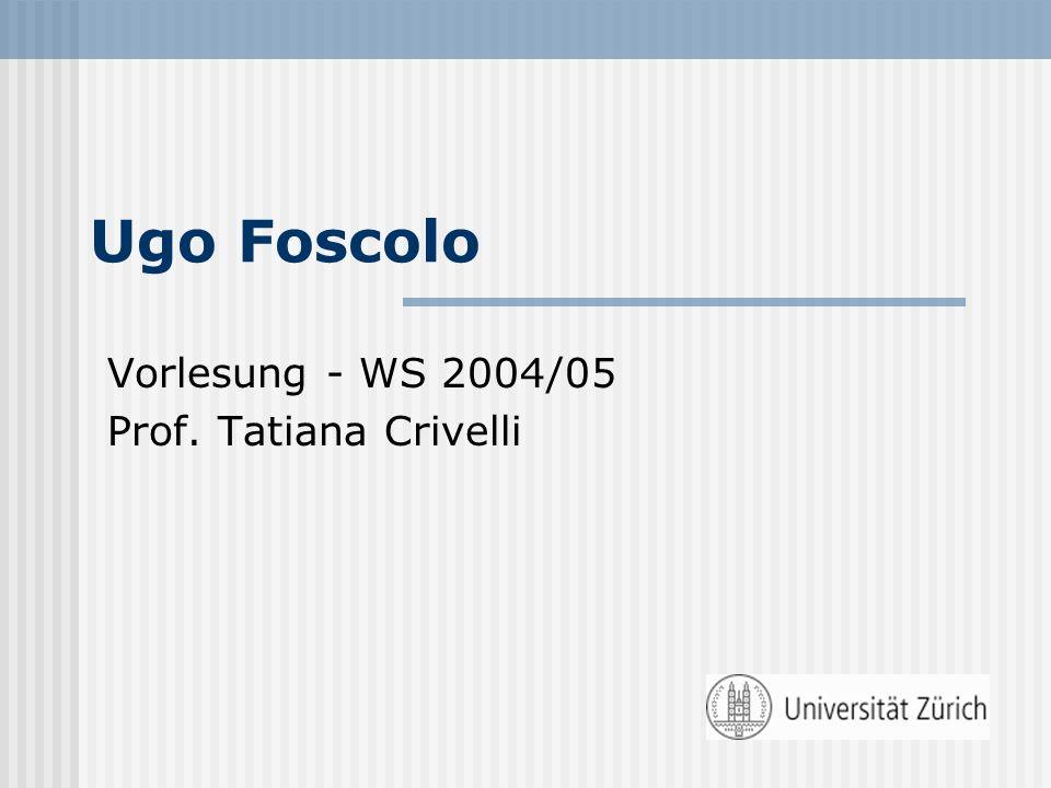 Vorlesung - WS 2004/05 Prof. Tatiana Crivelli