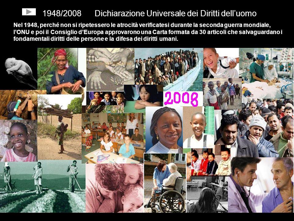 1948/2008 Dichiarazione Universale dei Diritti dell'uomo