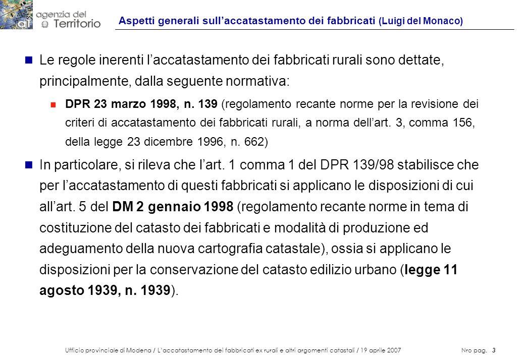 Aspetti generali sull'accatastamento dei fabbricati (Luigi del Monaco)