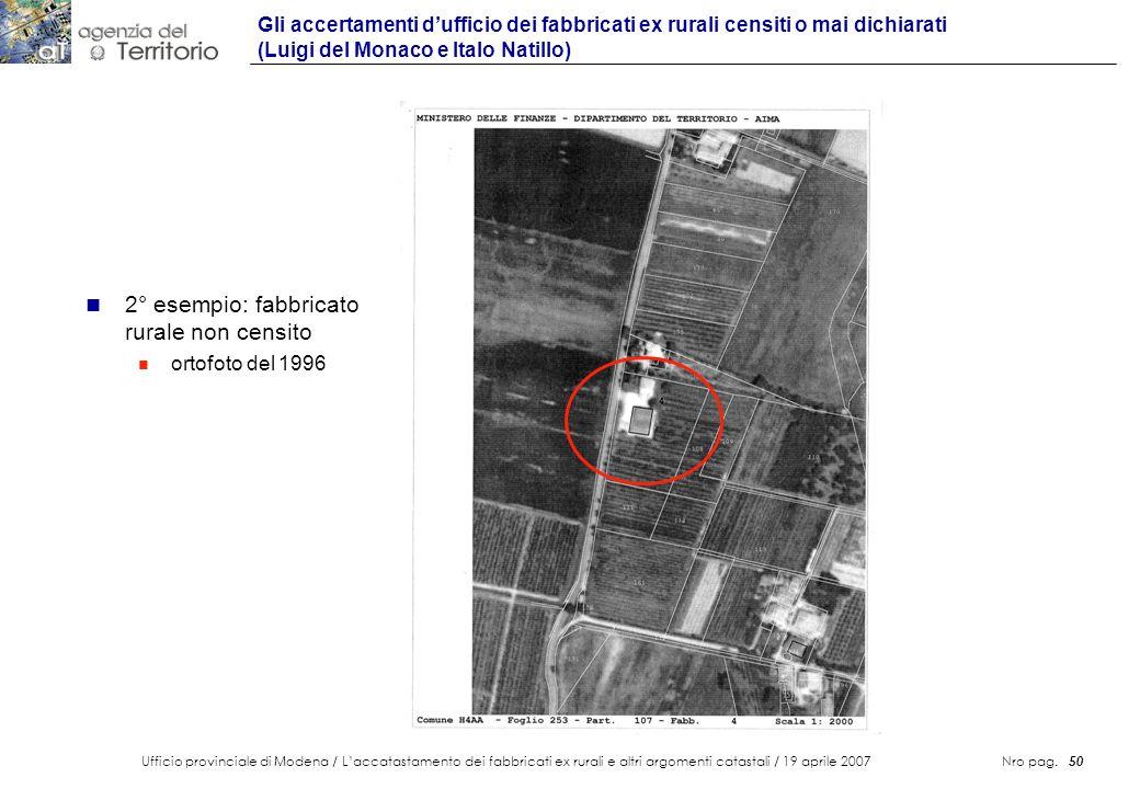 2° esempio: fabbricato rurale non censito