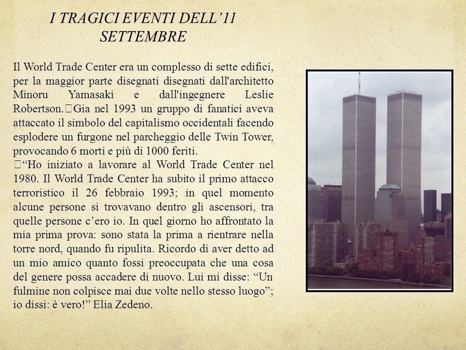 I TRAGICI EVENTI DELL'11 SETTEMBRE