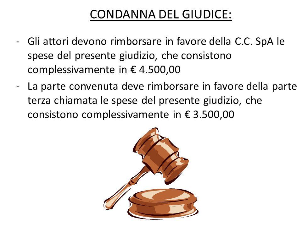 CONDANNA DEL GIUDICE: