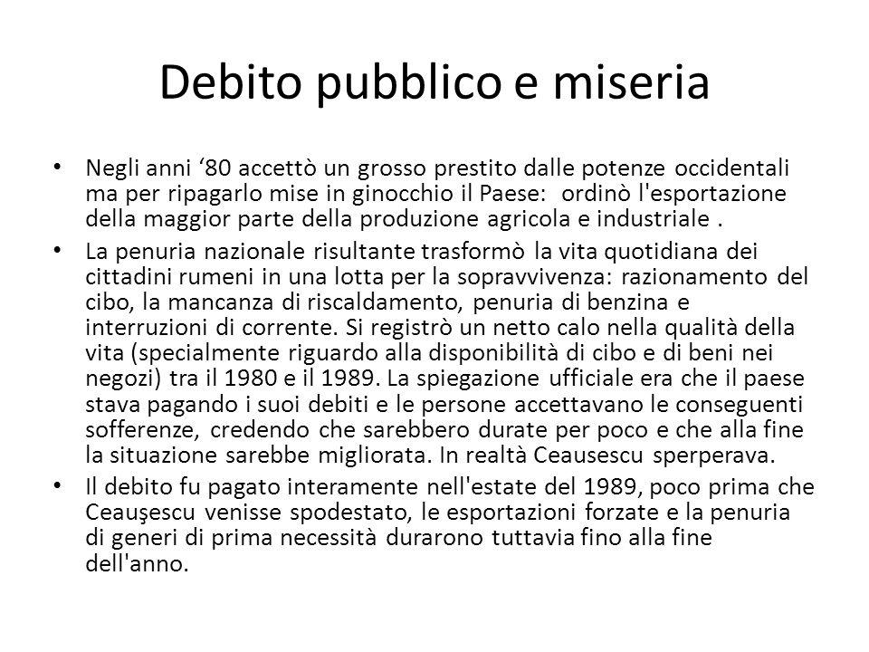 Debito pubblico e miseria
