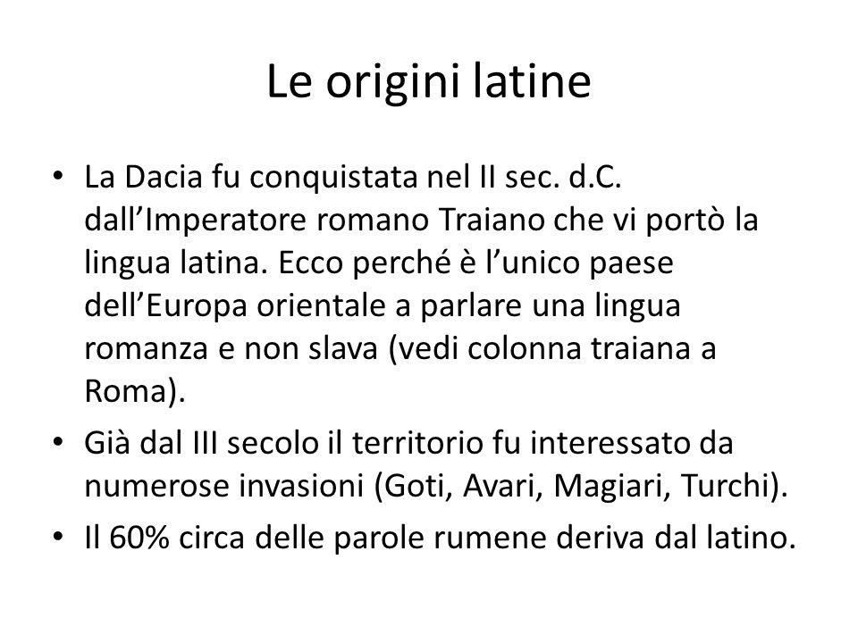 Le origini latine