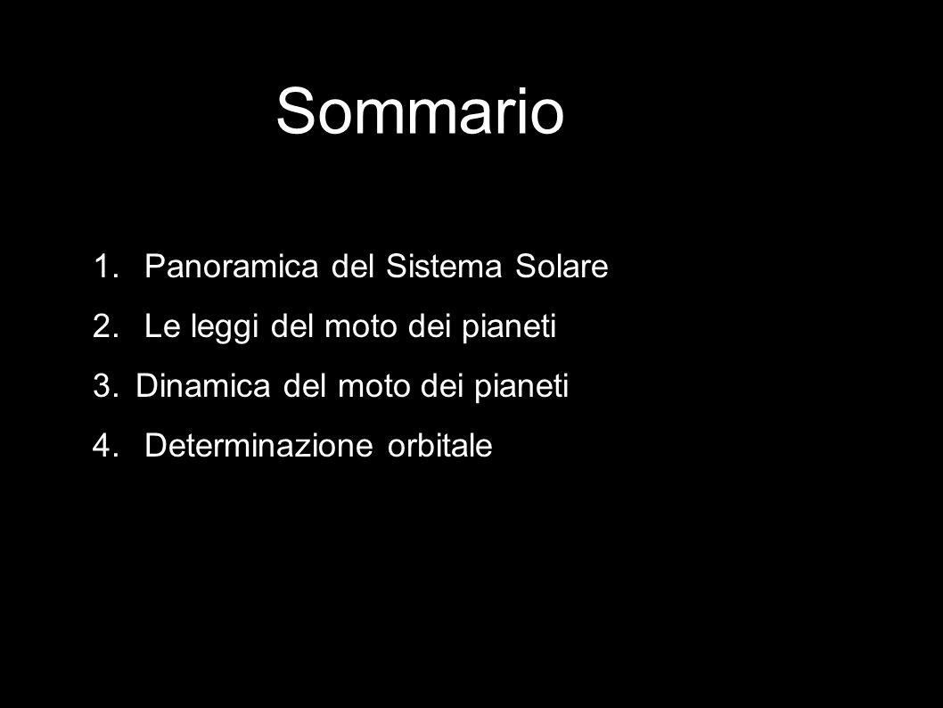 Sommario Panoramica del Sistema Solare Le leggi del moto dei pianeti