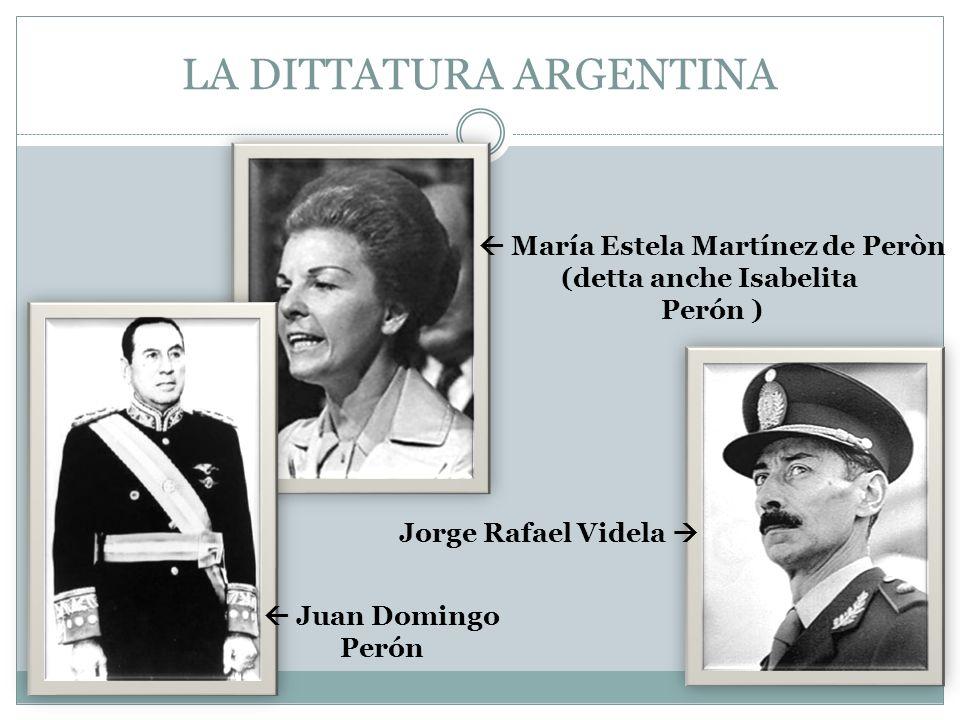 LA DITTATURA ARGENTINA