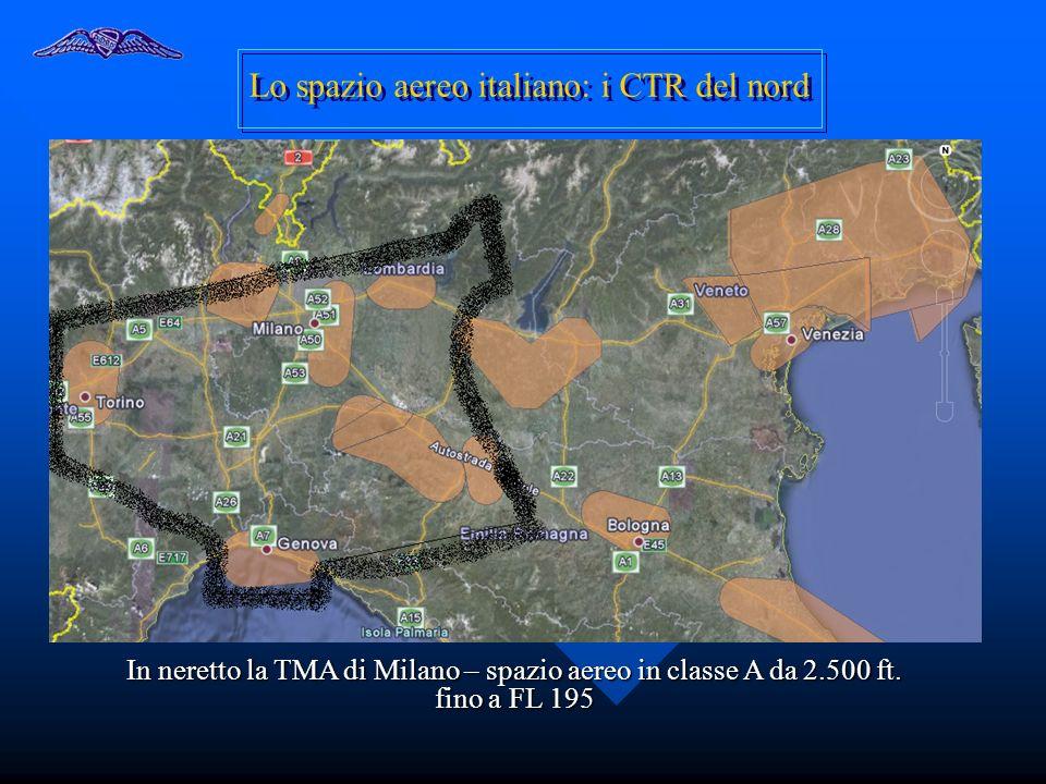 Lo spazio aereo italiano: i CTR del nord