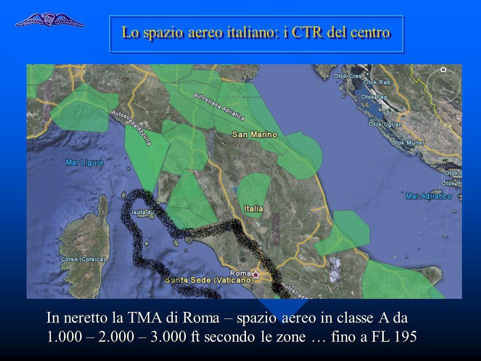 Lo spazio aereo italiano: i CTR del centro