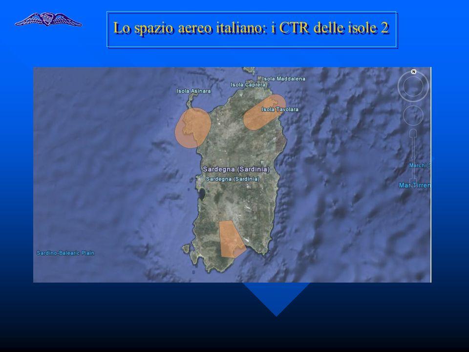 Lo spazio aereo italiano: i CTR delle isole 2