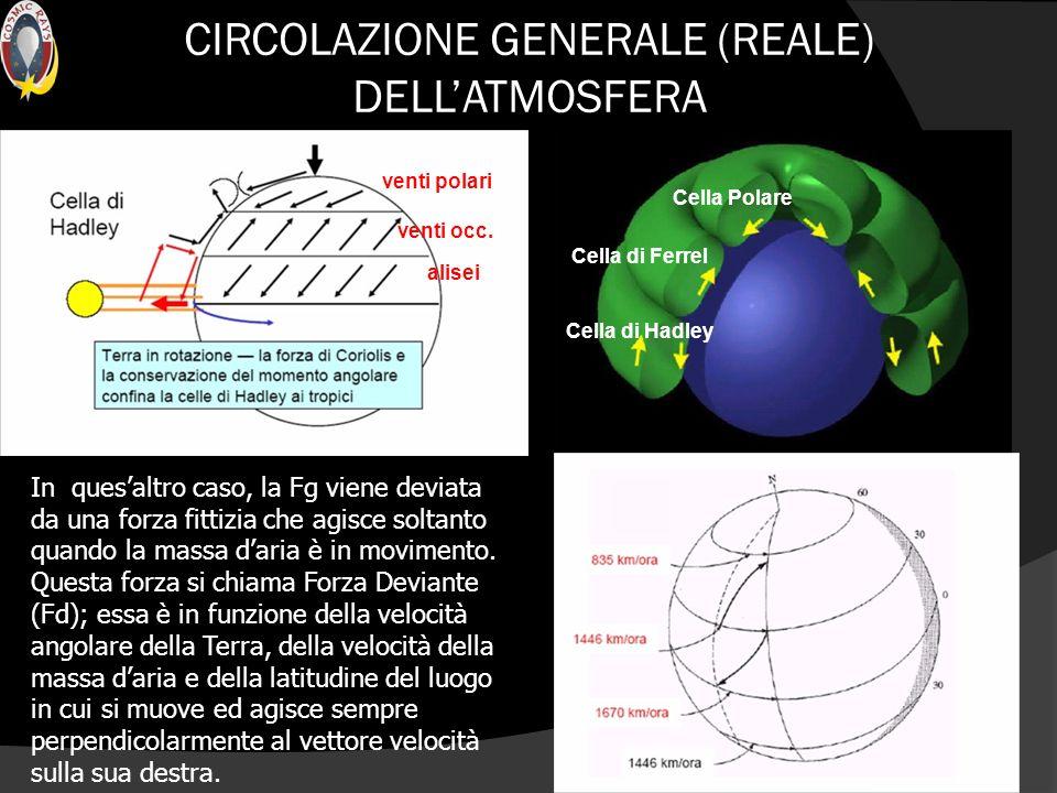 CIRCOLAZIONE GENERALE (REALE) DELL'ATMOSFERA