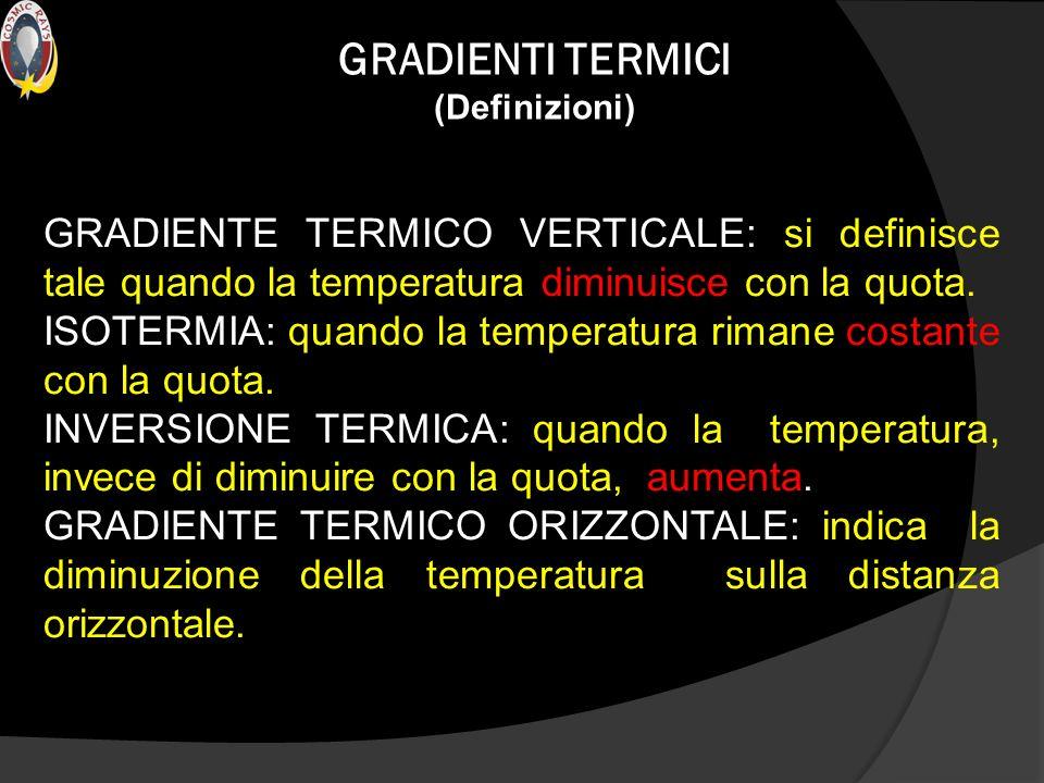 GRADIENTI TERMICI (Definizioni)