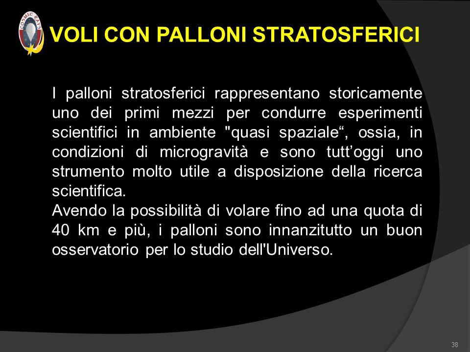VOLI CON PALLONI STRATOSFERICI