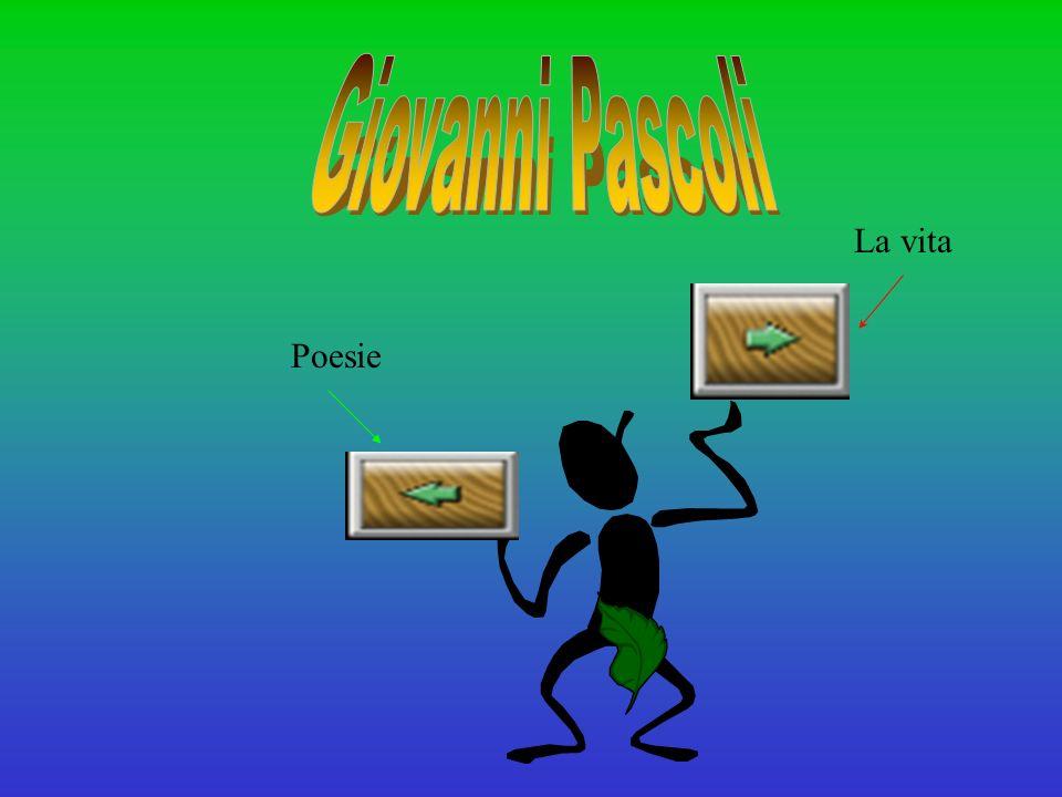 Giovanni Pascoli La vita Poesie
