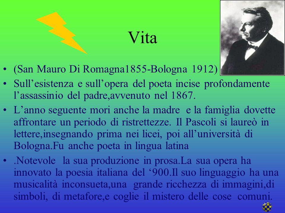 Vita (San Mauro Di Romagna1855-Bologna 1912) poeta.