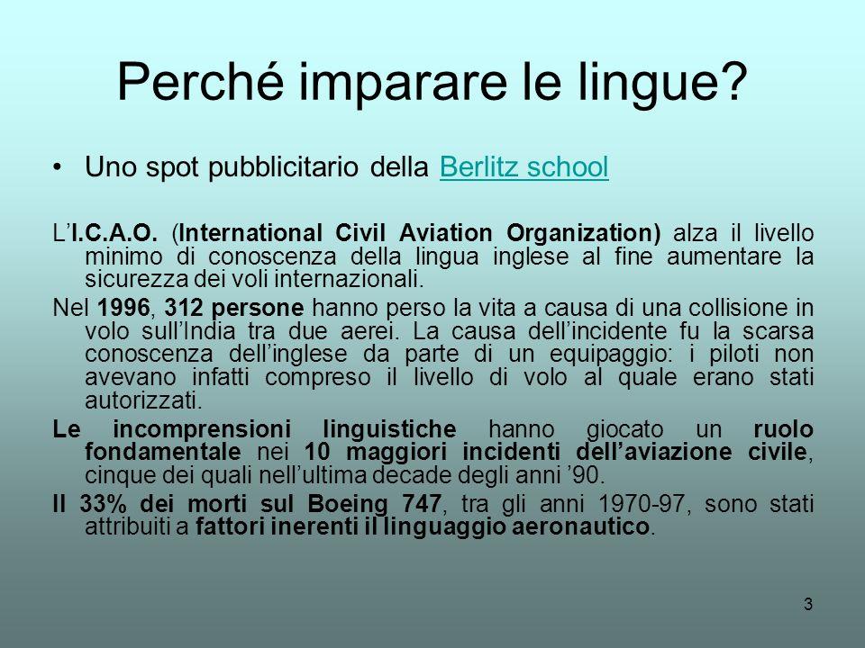 Perché imparare le lingue