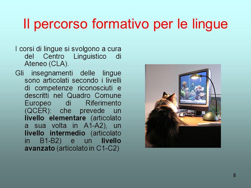 Il percorso formativo per le lingue