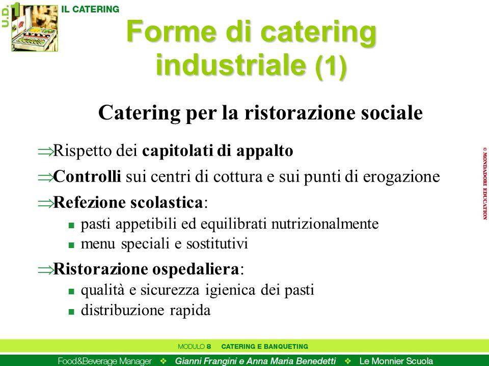 Forme di catering industriale (1) Catering per la ristorazione sociale