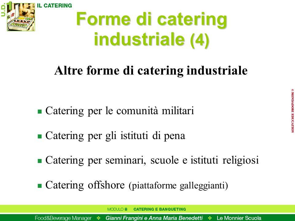Forme di catering industriale (4) Altre forme di catering industriale
