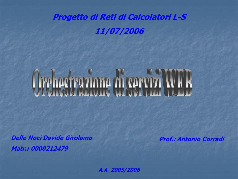 Progetto di Reti di Calcolatori L-S Orchestrazione di servizi WEB