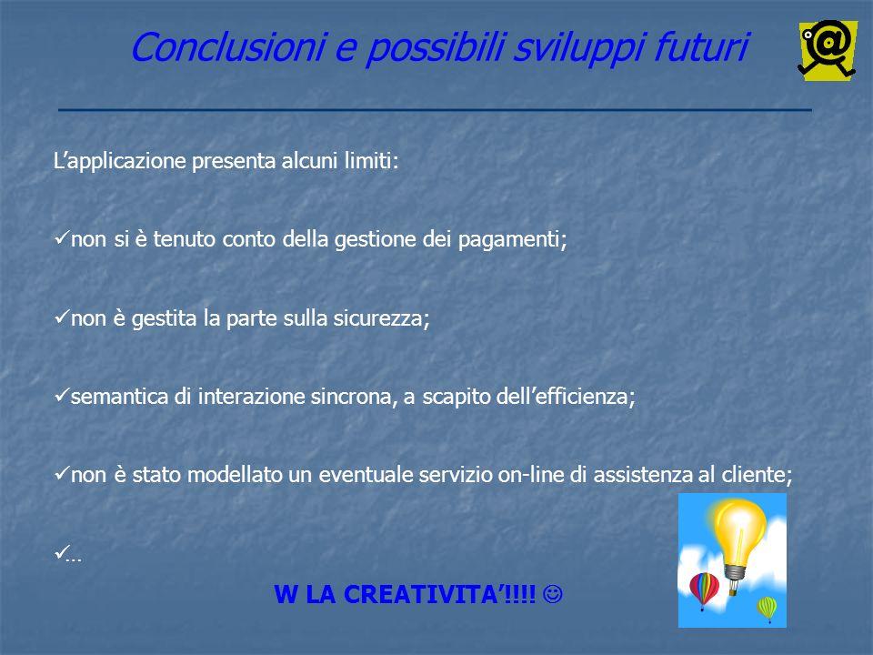 Conclusioni e possibili sviluppi futuri