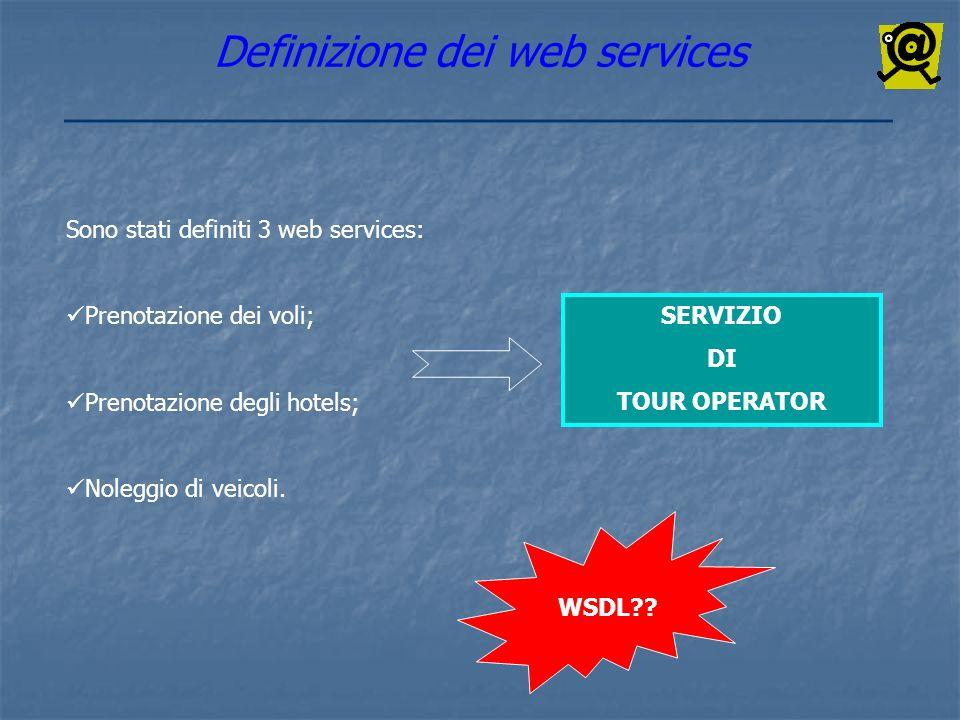 Definizione dei web services