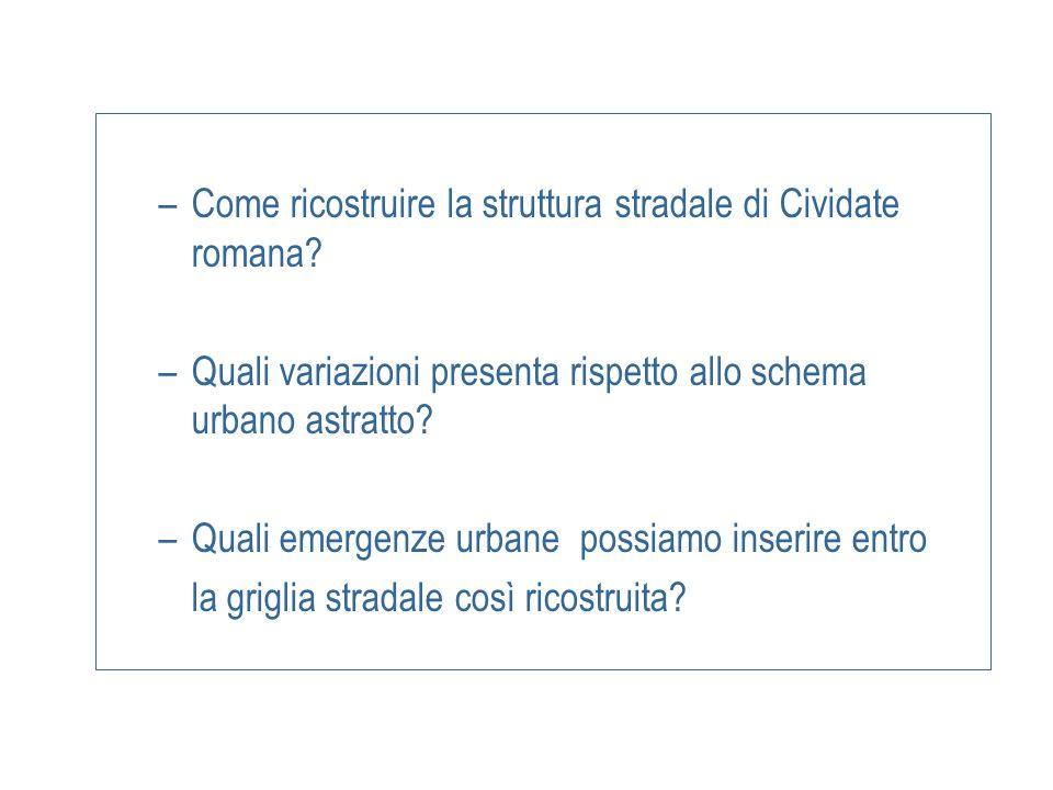 Come ricostruire la struttura stradale di Cividate romana