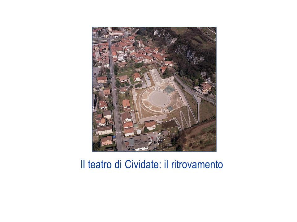 Il teatro di Cividate: il ritrovamento